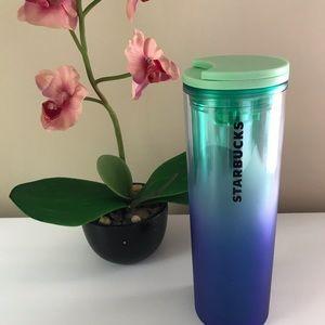 STARBUCKS Ombré Blue Green Water bottle NWT
